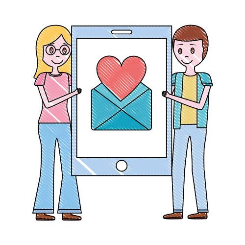 婚活サイトのイメージ図